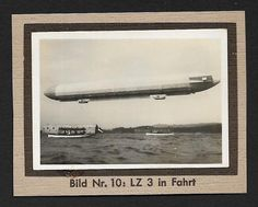 (111cents) Germany 1932 Small Photo Zeppelin LZ 3 4cm x 6cm