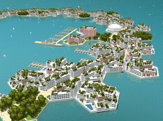 The Atlantis Project, which proposed the creation of a floating sea city named Oceania, began in February '93.