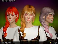 - New hair mesh  Found in TSR Category 'Sims 4 Sets'