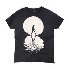 SIXPACK France [t-shirt] - Full Moon Black / Jonathan Zawada Like Jesus walking in water Shirt Print Design, Tee Shirt Designs, Cool Shirts, Tee Shirts, Tees, Tee Shop, T Shirt Painting, Vintage Design, Apparel Design