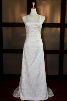 Sexy backless with bling beading A-line gown $396.00