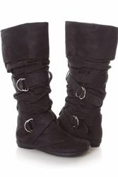 Black medieval boots