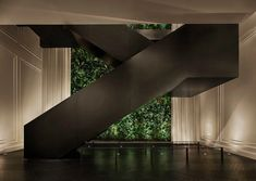 Midtown Manhattan's Hospitality Haven, The Times Square EDITION Lobby Staircase, Times Square Editio Lobby Bar, Times Square, Edition Hotel, Terrace Restaurant, Yabu Pushelberg, Hotel Concept, Plant Wall, Architectural Digest, Great Rooms