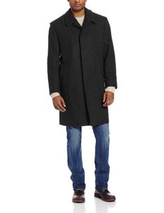 Best Quality London Fog Men's Coventary Top Coat, Black, 42 Regular