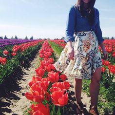 Jardin Skirt #Anthropologie #MyAnthroPhoto