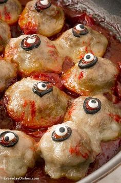 Halloween Cocktail Meatball Eyes