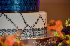 Nightmare Before Christmas Wedding Cake - Haunted Mansion Inspired Wedding at the Grand Floridian Resort at Walt Disney World - Disney Wedding - Click pin for more - www.orangeblossombride.com