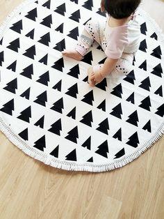 Play Mat Floor Rug Nursery Decor Padded By Angelsgiggle Round