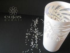 cilindro porta candela in cartoncino traforato rivestito interamente h22cm, diametro 11cm fatto a mano cojaseventi.com https://www.facebook.com/pages/Cojas-Eventi-Wedding-Planner-Sardegna/192376730792148?ref=hl