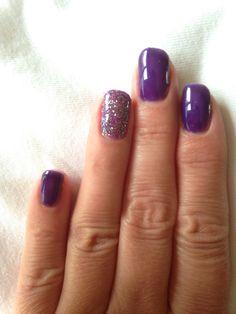 Purple shellac nails nail files pinterest for Decoracion unas shellac