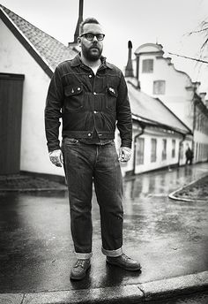 """Fredrik Johansson from Unionville wears a pair of Levi's® Vintage Clothing 1933 501s purchased in Stockholm. The seller was a friend's friend who kept them hidden, waiting for """"the right"""" person. Since then, his jeans have been to Los Angeles, Las Vegas, Bangkok and Berlin."""