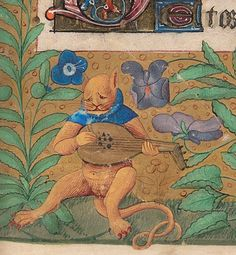 melancholic pussy-cat book of hours, France 15th century. Beinecke Rare Book and Manuscript Library, MS 662, fol. 21r
