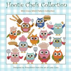 Hootie Chefs Collection Cross Stitch PDF Chart by PinoyStitch