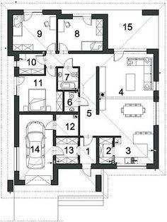 Projekt domu Dostępny D45 wariant I 120,57 m² - koszt budowy - EXTRADOM Diagram, Floor Plans, Floor Plan Drawing, House Floor Plans