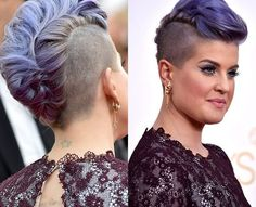 Mohawk! Kelly Osbourne makes punk pretty.  Who knew the punk look could look so chic? Kelly Osbourne's candy floss coloured locks adds a feminine spin to the mohawk. If you want to make this edgy haircut look sophisticated, why not try a french roll like Kelly?