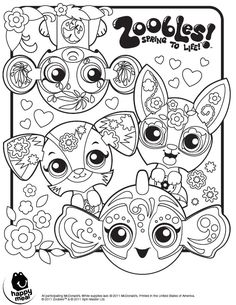zoobles coloring page printables for kids free word search puzzles coloring pages and other activities