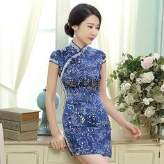 chinese clothing cheongsam lace dress            https://www.ichinesedress.com/