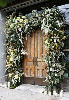 Flower-framed entrance