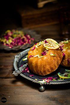 Jagruti's Cooking Odyssey: Lemon, Rose and Pistachio Semolina Bundt Cake Baking Recipes, Cake Recipes, Dessert Recipes, Sweet Recipes, Oreo, Semolina Cake, Eggless Baking, Pistachio Cake, Un Cake