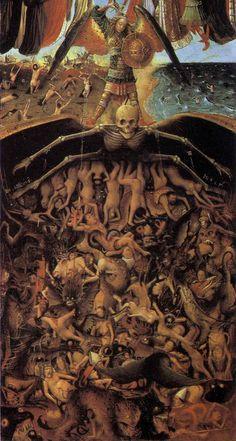 Артефакты, диковинки, интересности... - Страшный суд The Last Judgment, Jan Van Eyck, Medieval Paintings, Deities, Oil On Canvas, Art History, Workshop, Medieval Art, Vans