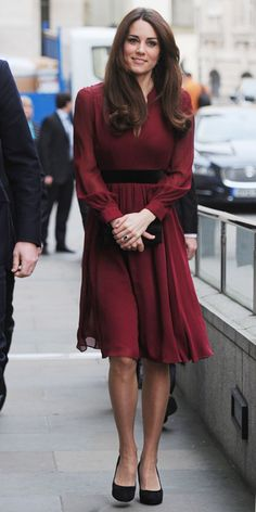 Kate Middleton's Best Looks From 2013 - January – Whistles Dress from InStyle.com