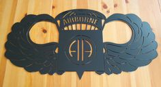 82nd Airborne Division jump wings sign by InspirationMetalwork