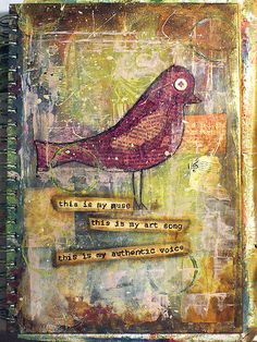 Front cover of an art journal book