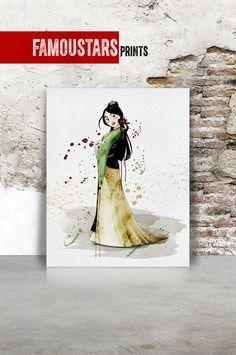 Mulan princess Mulan Disney print Poster Watercolor by FamouStars Epson Ink, Poster Prints, Art Prints, Childrens Gifts, Metallic Colors, Watercolor Print, Disney Art, Art Decor, Digital Prints