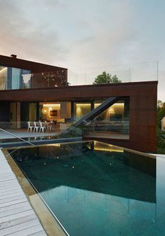 metal + tollix chairs + glass + pool#Repin By:Pinterest++ for iPad#