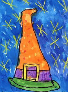 Art Projects for Kids: Watercolor Witch Hats
