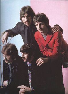 The Beatles 1967. Looks to me to be the wax figures created for the Wax Museum in France