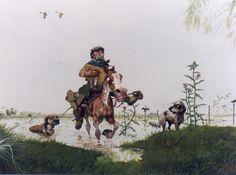 "CM - """"LLOVEDOR VINO FEBRERO"" Gaucho, Western Art, Countryside, Westerns, Camel, Cartoon, Animals, Painting, David"