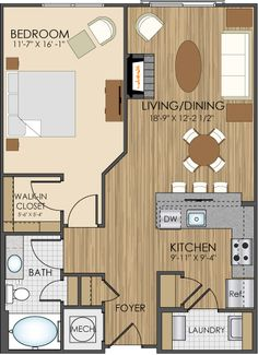 1 bedroom apartment floor plans 500 sf du apartments - 1 bedroom apartments in gaithersburg md ...