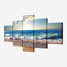 5 piece canvas art picture modular Sea painting modern pictures on the wall for the kitchen home wall art decoration Waterproof *** Read more info by clicking the link on the image. 5 Piece Canvas Art, Canvas Art Prints, Canvas Wall Art, Canvas Paintings, Modern Pictures, Art Pictures, Canvas Pictures, Home Wall Art, Wall Art Decor