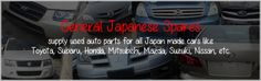 Supply used auto parts for all Japan made cars like Toyota, Subaru, Honda, Mitsubishi, Mazda, Suzuki, Nissan, etc...