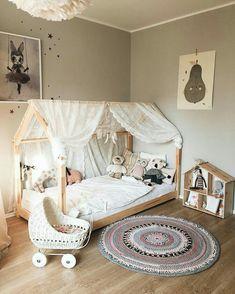 pastel girls room ideas, pink and grey girls room design Pastel Girls Room, Grey Girls Rooms, Little Girl Rooms, Baby Bedroom, Girls Bedroom, Trendy Bedroom, Room Girls, Toddler Rooms, Toddler Bed