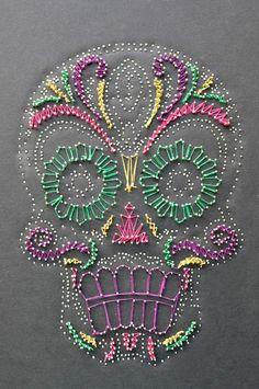 embrodery skull