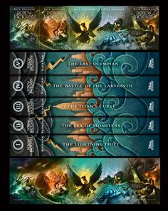 Percy Jackson and the Olympians- The New Covers
