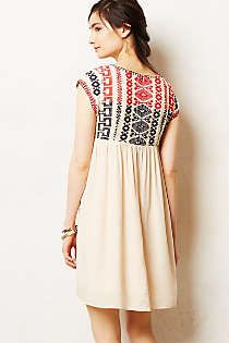 Anthropologie - Petra Swing Dress - I like the idea of the detail on the back - this would be super cute for summer!