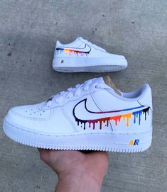 Custom Air Force 1 by gvlcustoms Jordan Shoes Girls, Girls Shoes, Ladies Shoes, Shoes Women, Shoes For Teens, Jordan Flight Shoes, Boy Shoes, Girls Sandals, Women Sandals