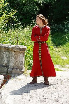 Long Mens Medieval Tunic mens medieval garb red tunic by armstreet