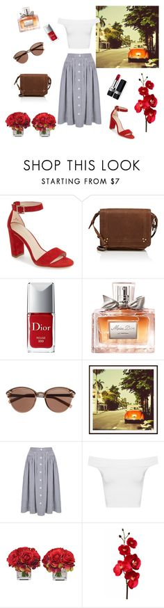 """""""Retro"""" by emina-la ❤ liked on Polyvore featuring Pelle Moda, Jérôme Dreyfuss, Christian Dior, Witchery, Pottery Barn, WearAll and The French Bee"""