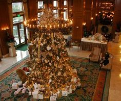 in love with the inn on biltmore estates lobby christmas tree www