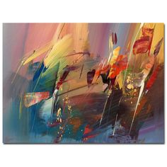 Add a contemporary feel to your home with this gallery-wrapped canvas art by Ricardo Tapia. This ready to hang print features a funky, abstract design and a variety of bold colors that will look wonderful with a variety of decor styles.