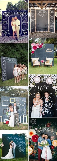 chalkboard wedding photobooth ideas
