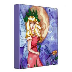 Fairy Under The Moon 3 Ring Binder