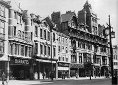 The Black Boy Hotel on Long Row, Nottingham, 1952.
