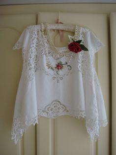 Gorgeous Crisp Cotton White Vintage Battenburg by PrettyUnusuall
