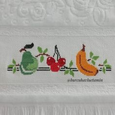 Hacks Diy, Cross Stitch Designs, Embroidery, Floral, Pattern, Handmade, Instagram, Cross Stitch Borders, Cross Stitch Fruit