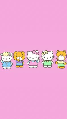 Hello Kitty Backgrounds, Hello Kitty Wallpaper, Cellphone Wallpaper, Iphone Wallpaper, Colourful Wallpaper Iphone, Hello Kitty Nails, Cute Themes, Sanrio Characters, Print Pictures